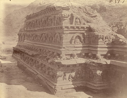 General view of Stupa No. 5 after excavation, Ali Masjid. 1003963a